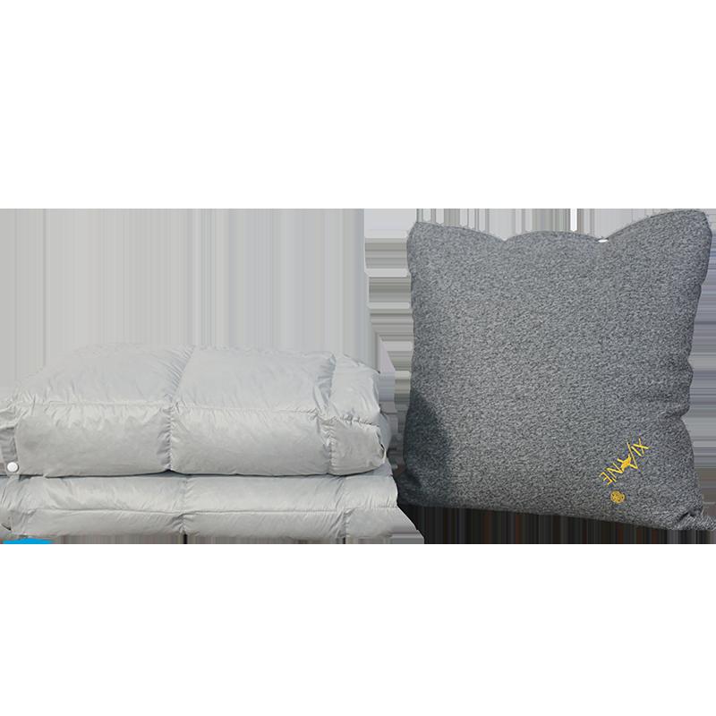 羽绒抱枕被子两用车载车用汽车三合一折叠靠枕靠垫沙发加厚车内