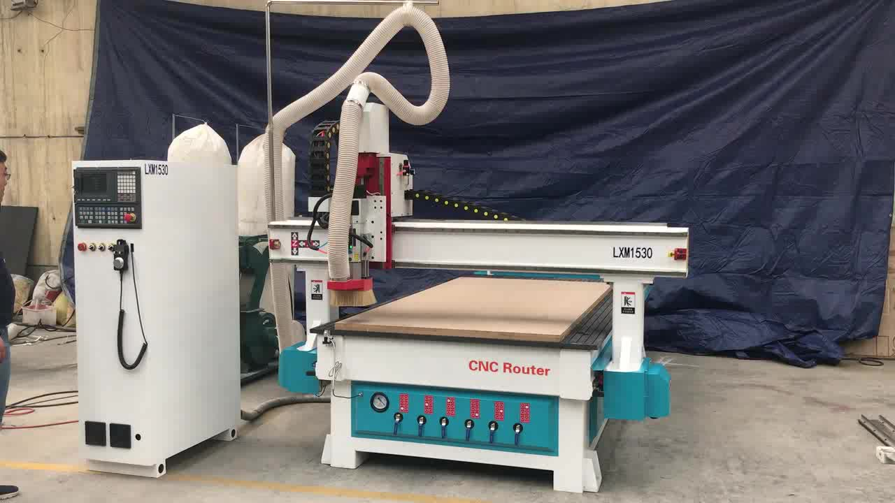 Wood cnc router machine auto tool changer