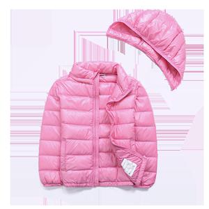 北极绒2019新款冬季轻薄短款羽绒服