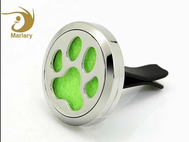 Hot Selling Eco-Friendly Dog Paw Hollow Design Perfume Car Vent Diffuser