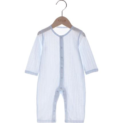 婴儿衣服夏季长袖0-3月-1岁男哈衣