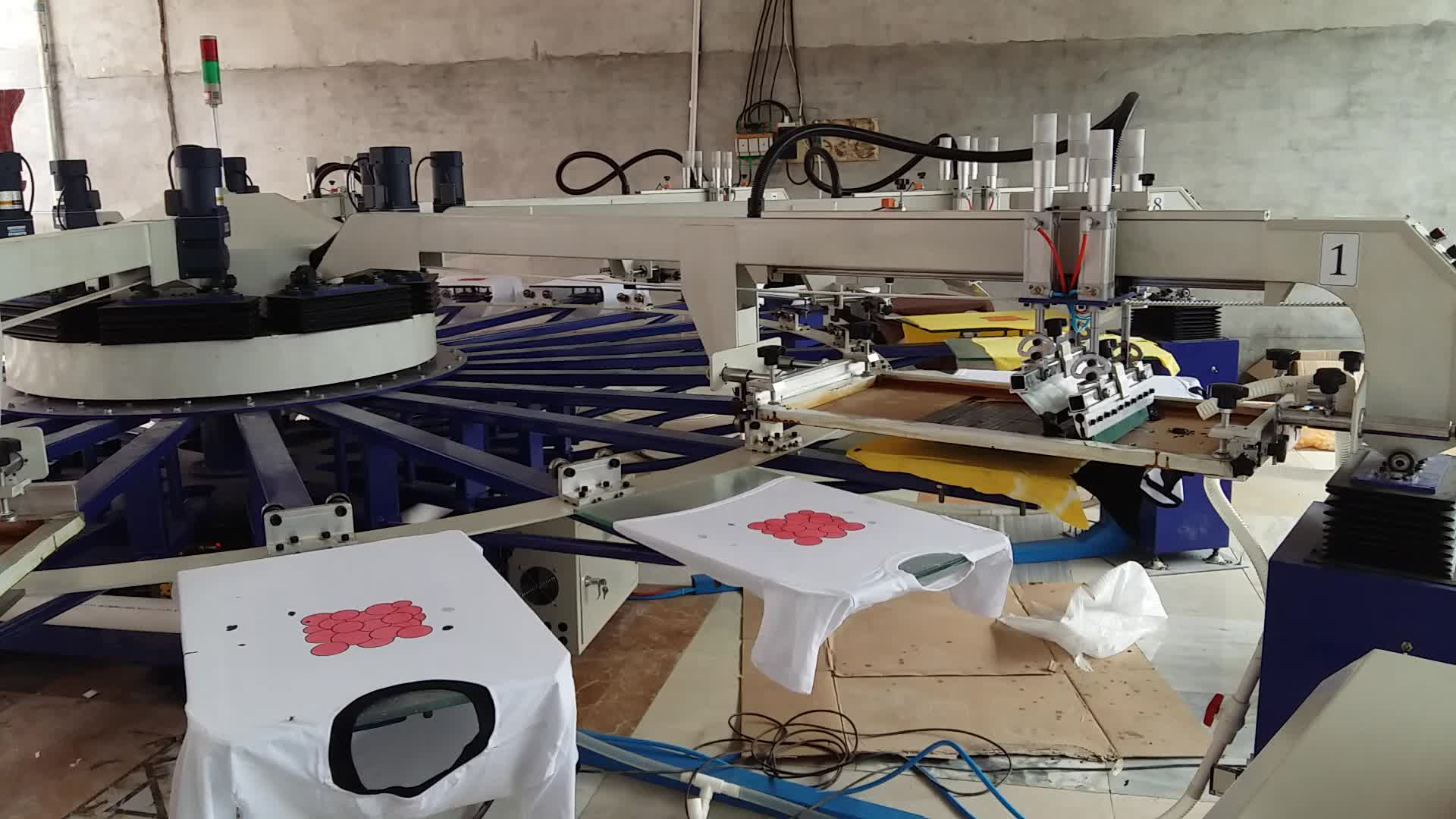 Automatic octopus t shirt silk screen printing machine for T shirt screen printers for sale