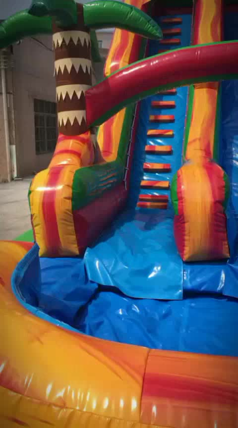 sale volcano kids waterslide inflatable free fall water slide giant photo for child