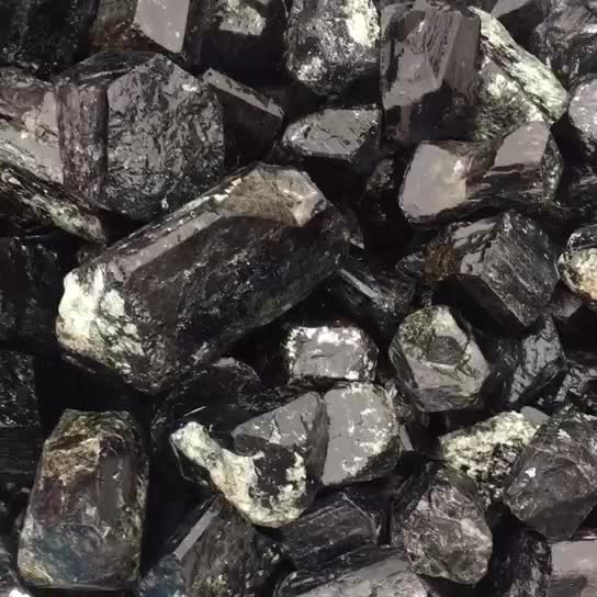 Wholesale natural raw black tourmaline rough for healing stone