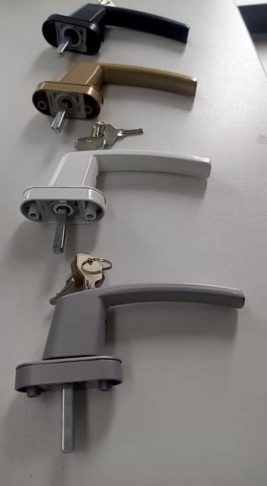 Germany uk market pvc door window handle with key lock for Door lock germany