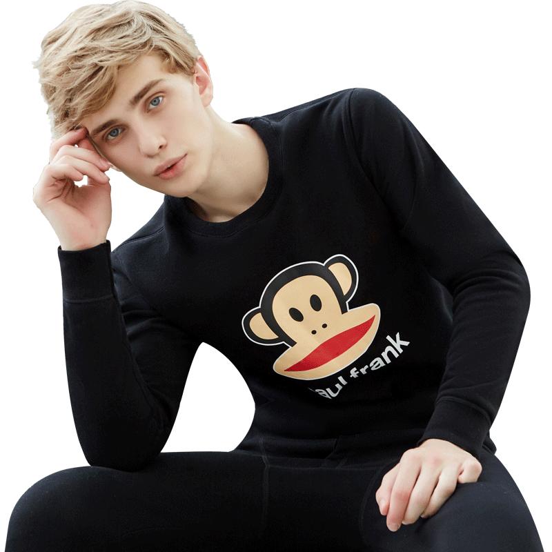 大嘴猴青年学生男士保暖内衣套装加厚加绒潮青少年秋衣秋裤秋冬季