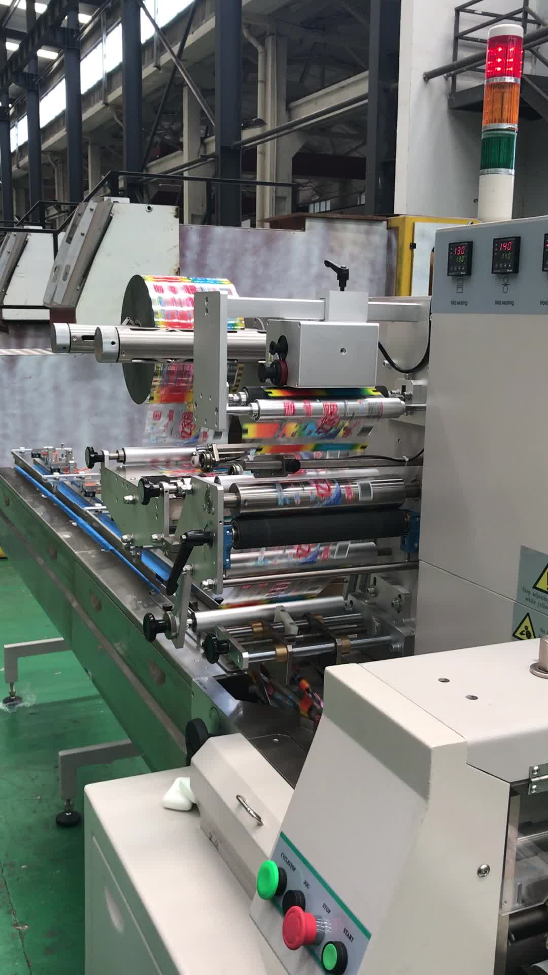 Horizontal automatic soap packing flow wrapper wrapping machine