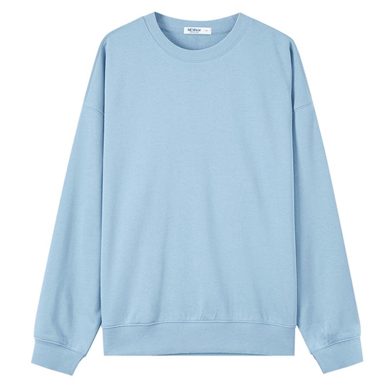 【6色可选】美特斯邦威基本款纯色卫衣女2019秋冬圆领针织套头衫