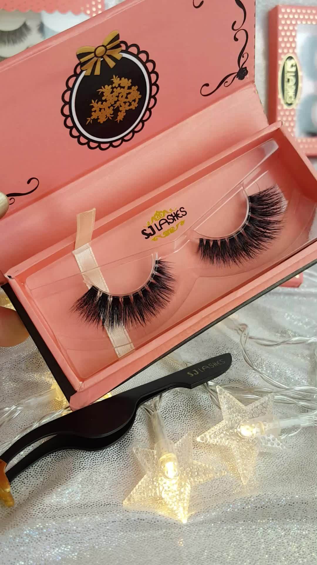 100 Remy Hair Lashes Private Label Eyelash Package Wispy Human Hair