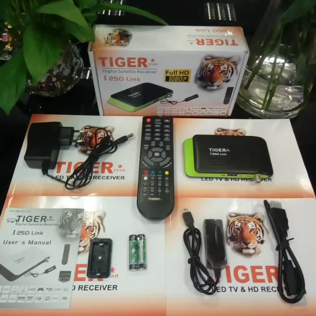 Cheapest Tiger I250Link Full HD FTA Satelliet TV Receiver with Multi Channels