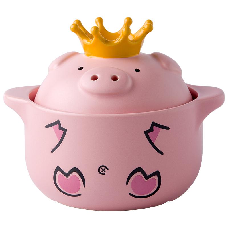 嘿猪猪创意陶瓷可爱粉色猪双耳砂锅质量好不好