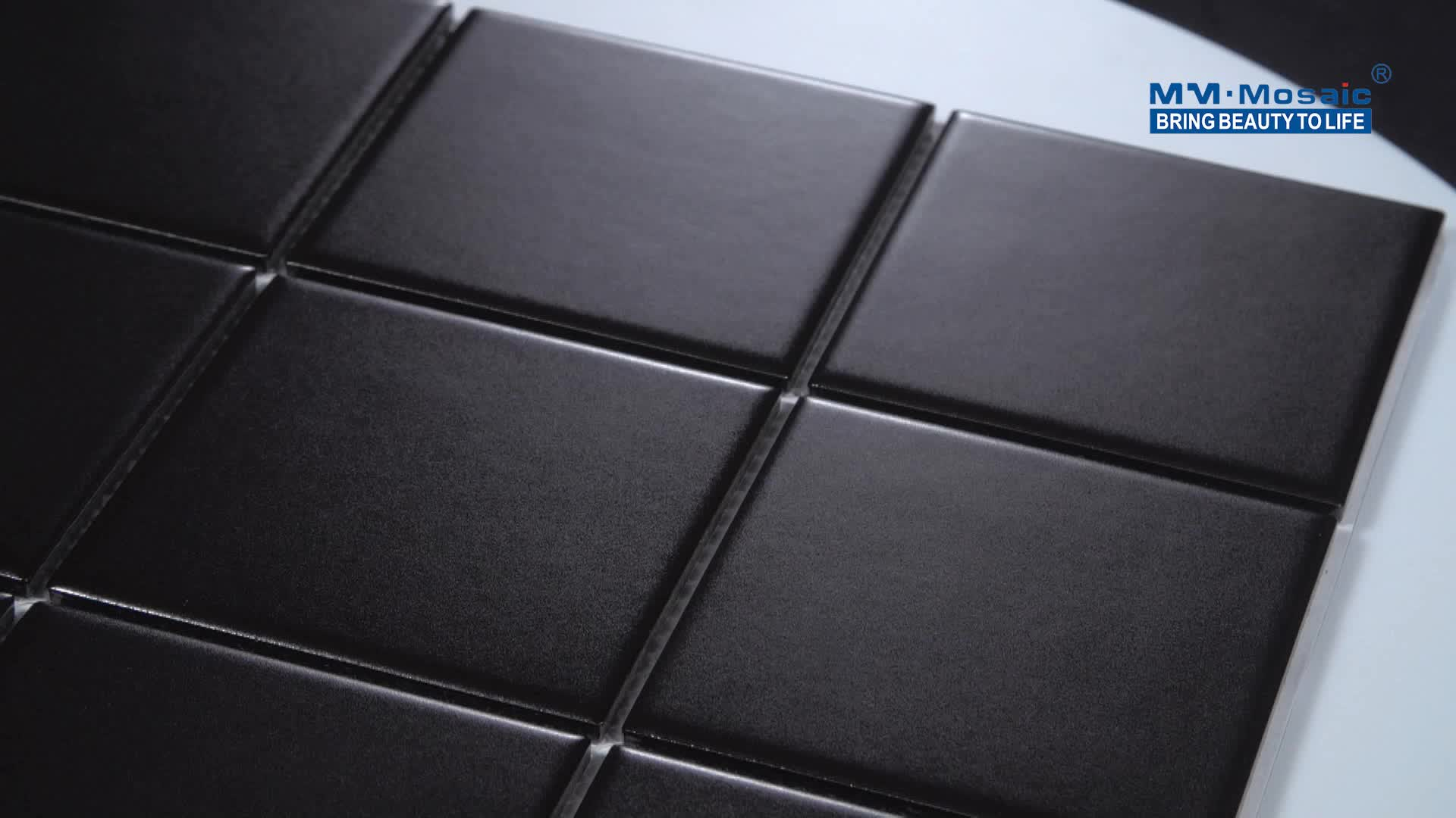 Stile semplice nero opaco quadrato backsplash piastrelle