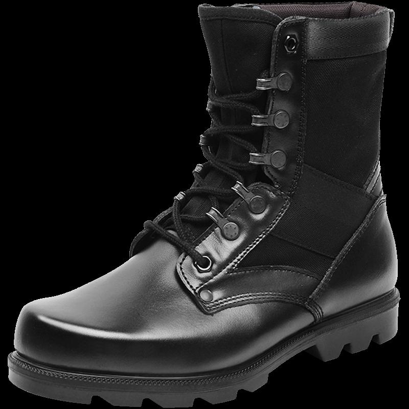 3515强人正品军勾鞋男春秋特种军靴07作战靴工装靴真皮登山陆战靴