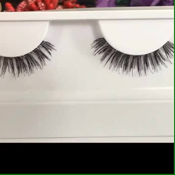 Best selling 3D Wispies doubled knitting human hair lashes with custom package
