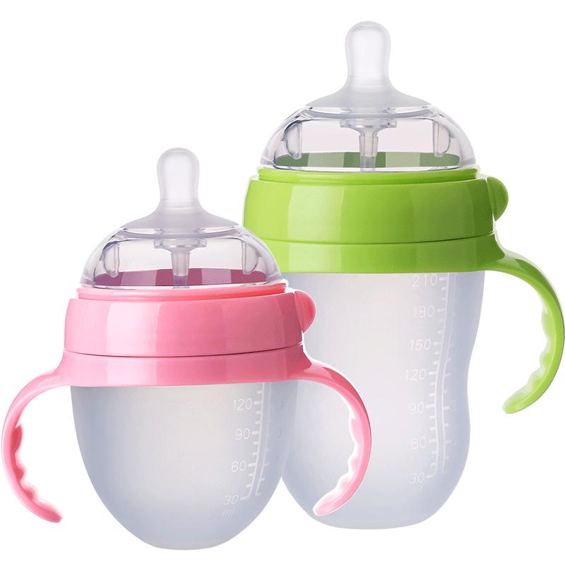 硅胶全软仿母乳正品新生大宝奶瓶