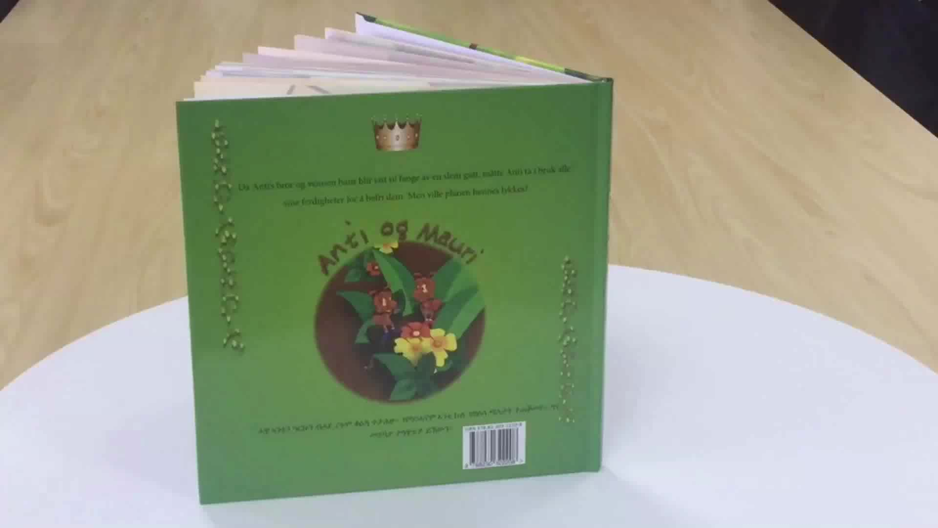 Eco friendly cartonato per bambini picture stampa del libro