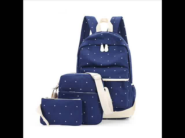 Popular children school bags with lunch boxes