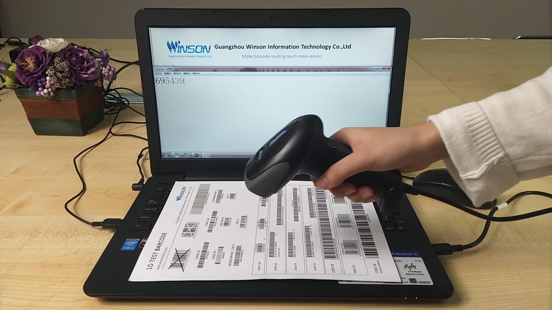 Promotional 1D CCD Handheld Barcode Scanner Gun High Speed Barcode Reader