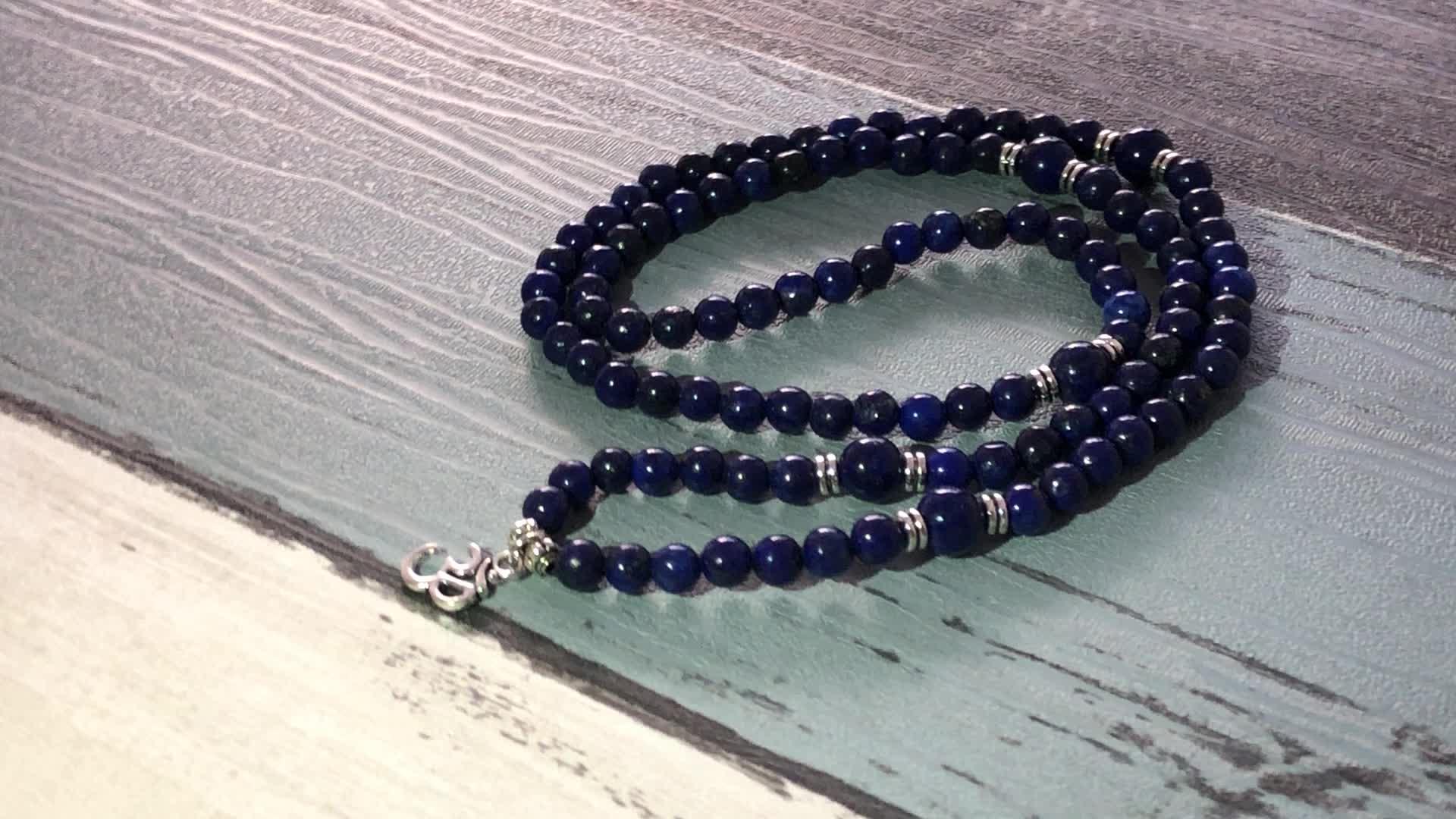 SN2000 Clear Quartz Charm Jewelry 4 Wraps Around Women Yoga Bracelet Handmade Natural Stone  6mm Amethyst Beaded Mala Bracelet
