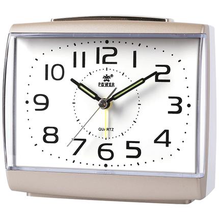 霸王静音学生卧室夜灯儿童创意钟表