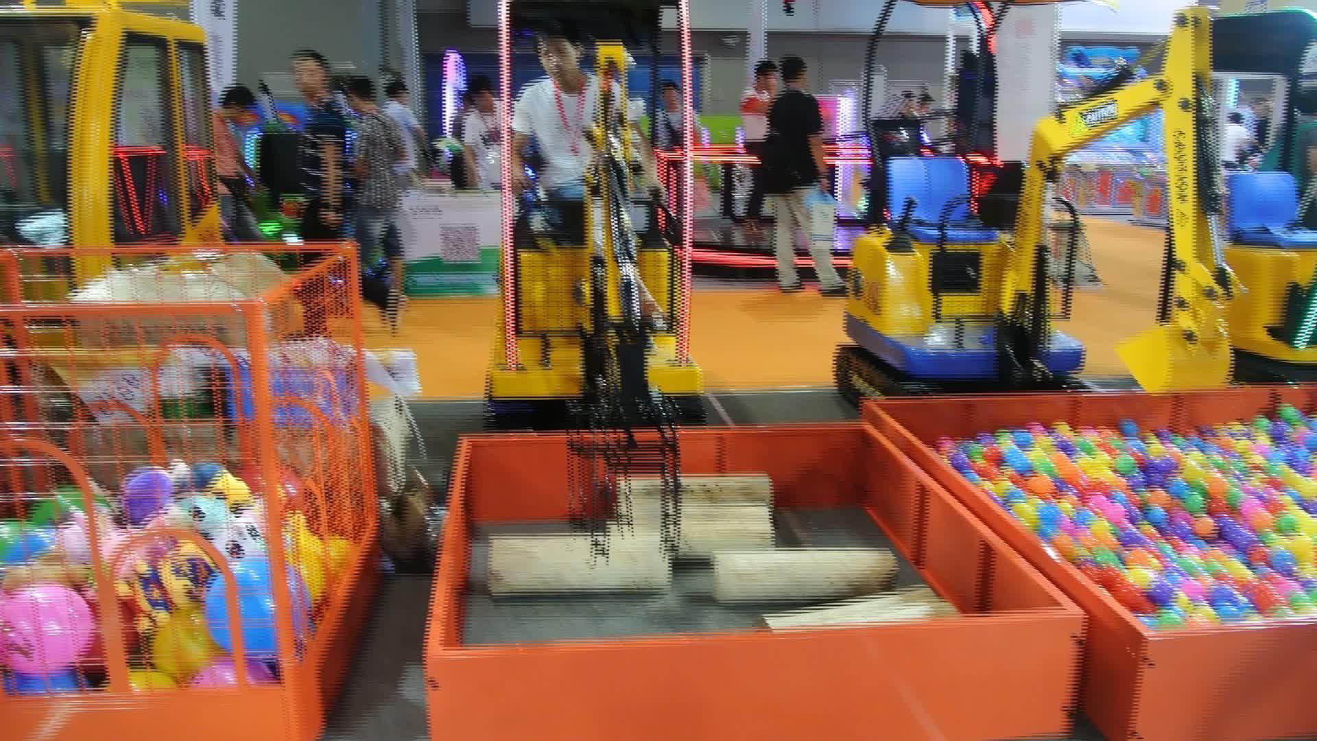 New design kid mini timber grab for amusement park