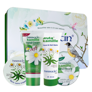 [he Benqing] German Chamomile hand cream gift box 80ml
