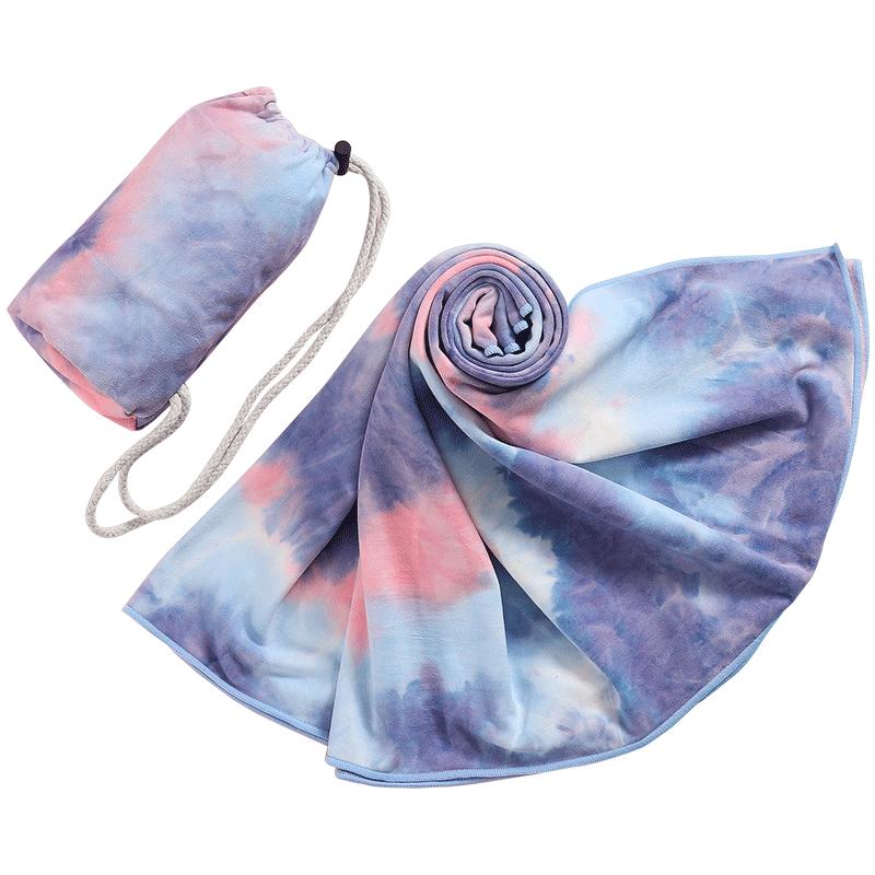 迪玛森瑜伽毯铺巾吸汗防滑便携垫布毛巾瑜珈休息术初学者女盖毯被