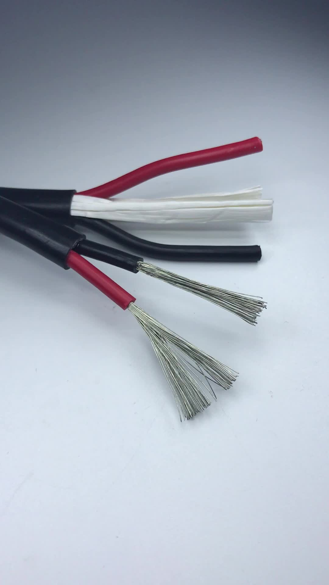 Flexible Electrical 2 Cores 3mm Stranded H05gg-f Copper Cable Wire ...