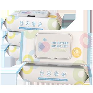 植护婴儿专业湿巾80抽*5包