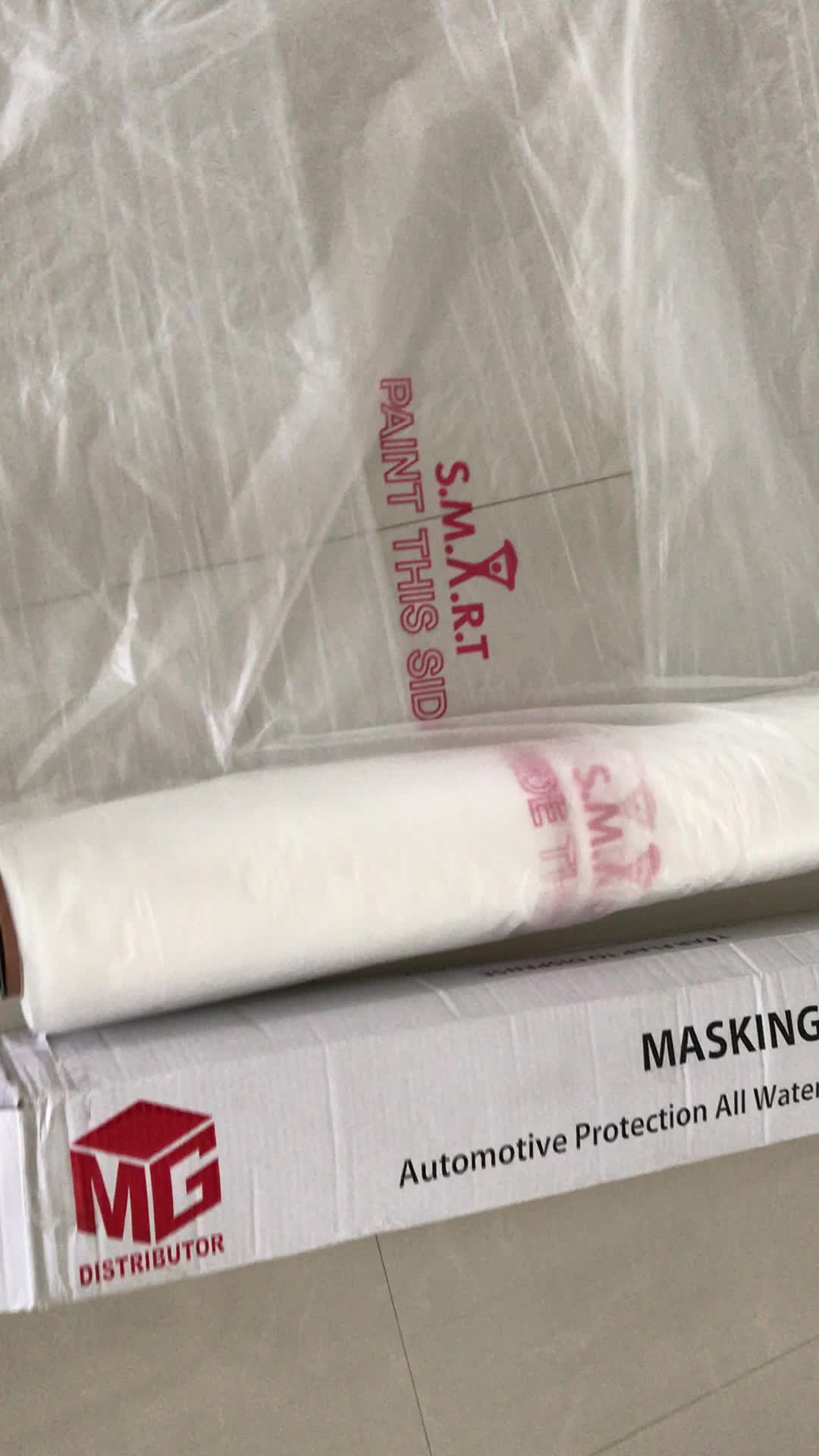 5m corona treated spray masking film roll for use in painting