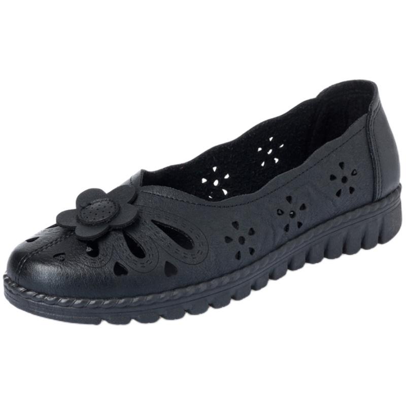 妈妈鞋软底中年女凉鞋夏季老人单鞋怎么样