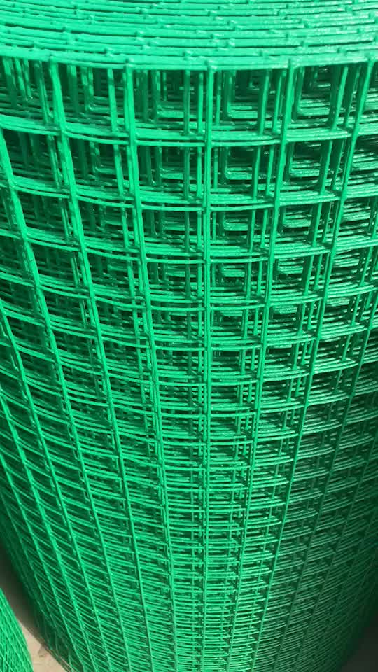 Green Pvc Coated Welded Wire Mesh/welded Roll Garden Fence - Buy ...