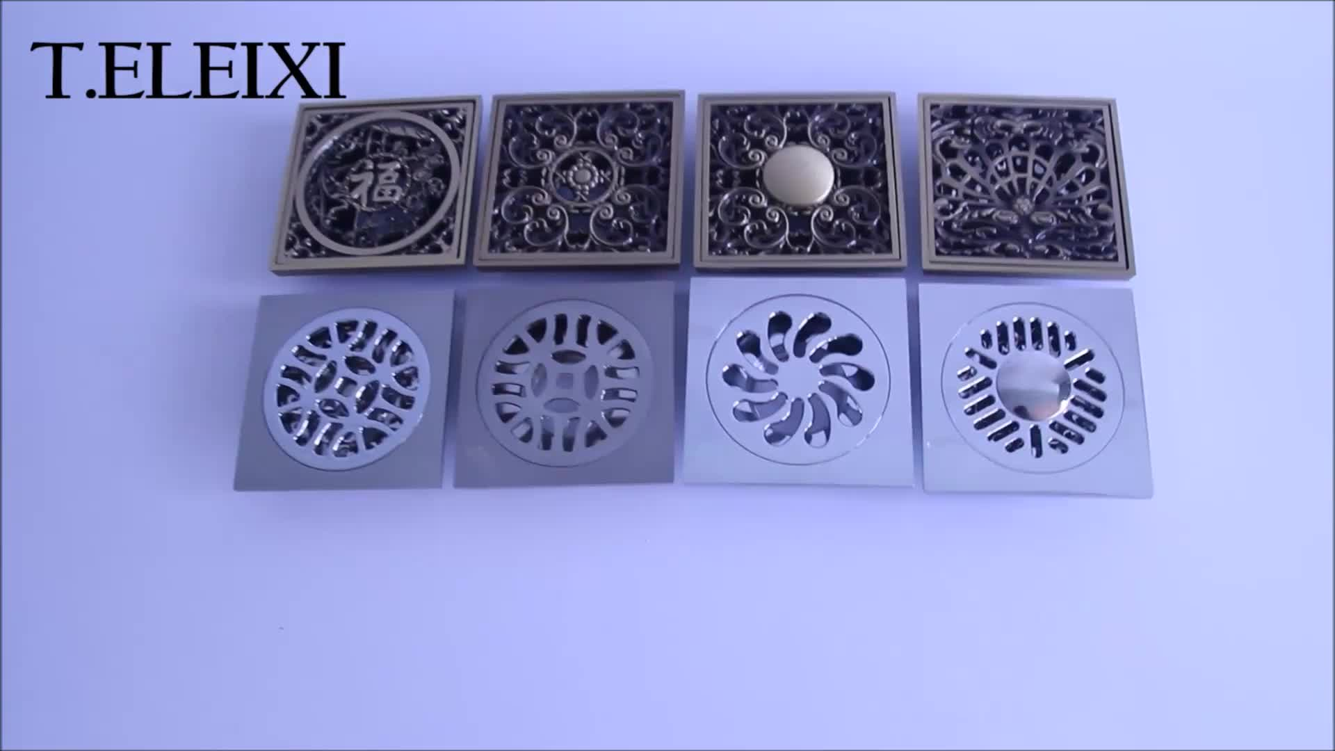 4 inch commercial square brass shower floor drain cover