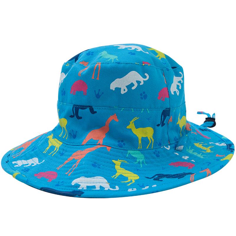 防紫外线防晒儿童遮阳太阳女童凉帽渔夫男童帽子夏天薄款网眼宝宝