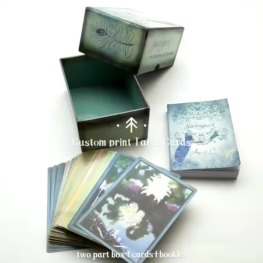 Gilt-edged Custom Printed Tarot Cards Oracle Cards with Instruction Book