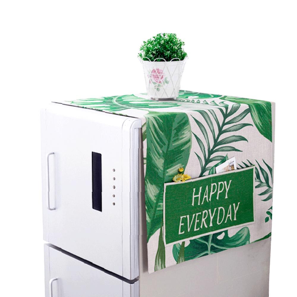 双开门冰箱防尘盖布洗衣机防尘罩防尘布保护罩微波炉冰箱罩子盖巾