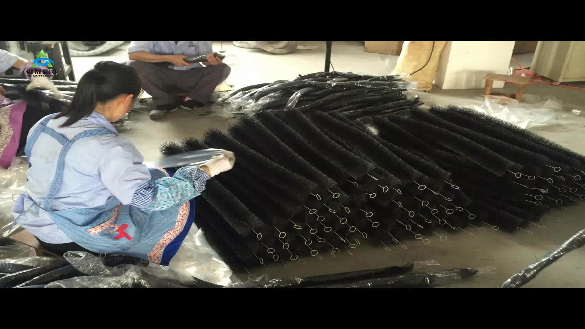 Filter media aquaculture fish pond vortex chamber brush for Cleaning pond filter media