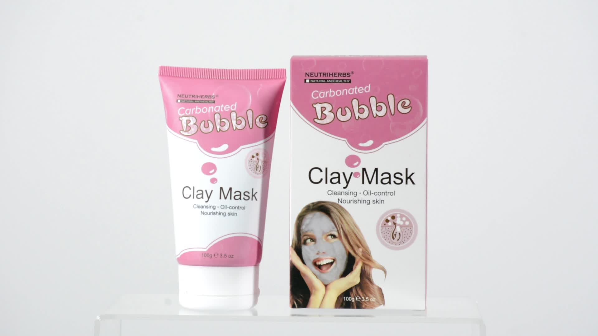Private Label 100g hidratam a máscara protetora carbonatada da argila da bolha