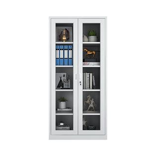 通体玻璃办公对开门带锁财务文件柜