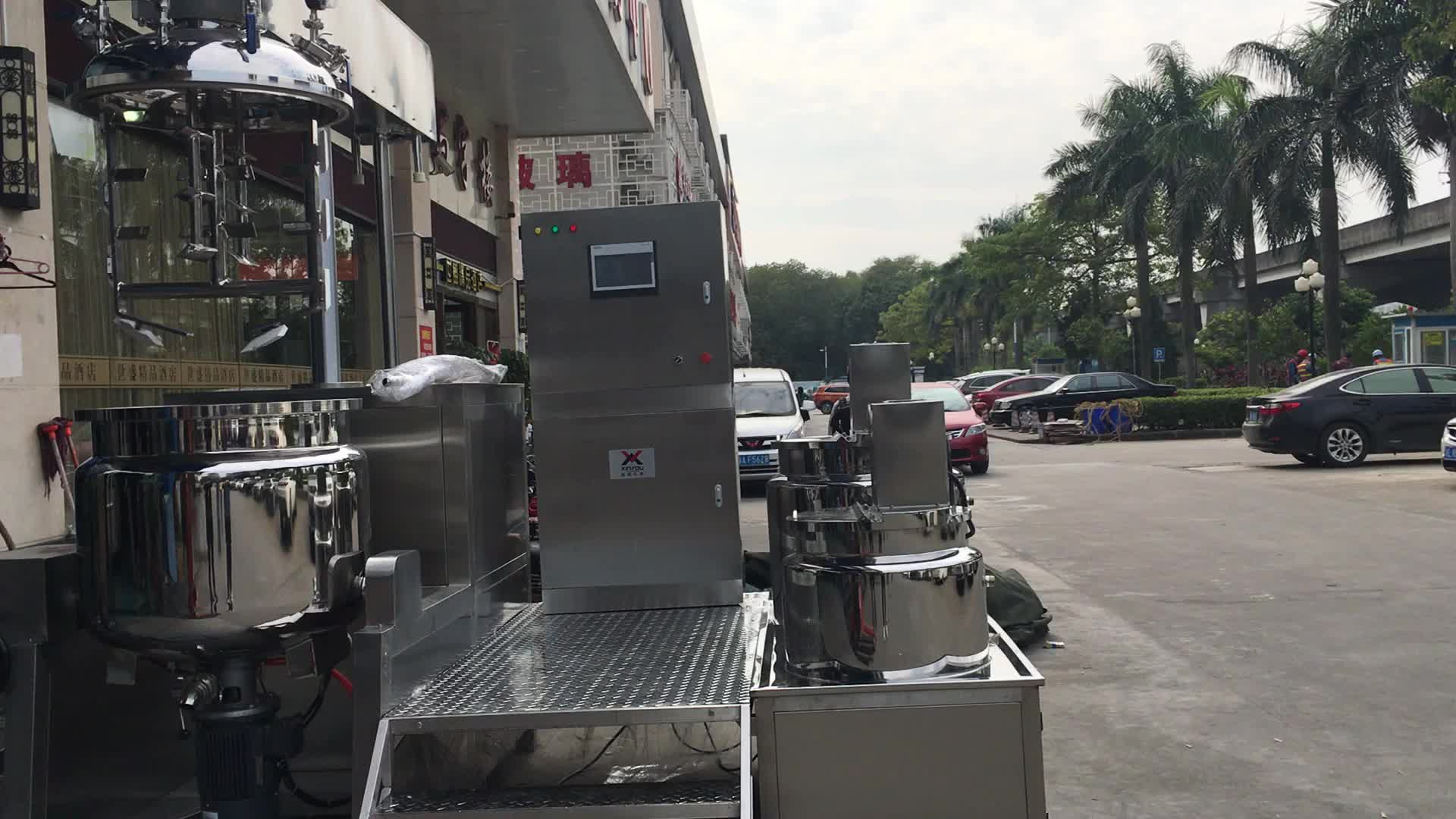 250L vacuum homogenizer emulsifying machine mixer with high quality for chemical use