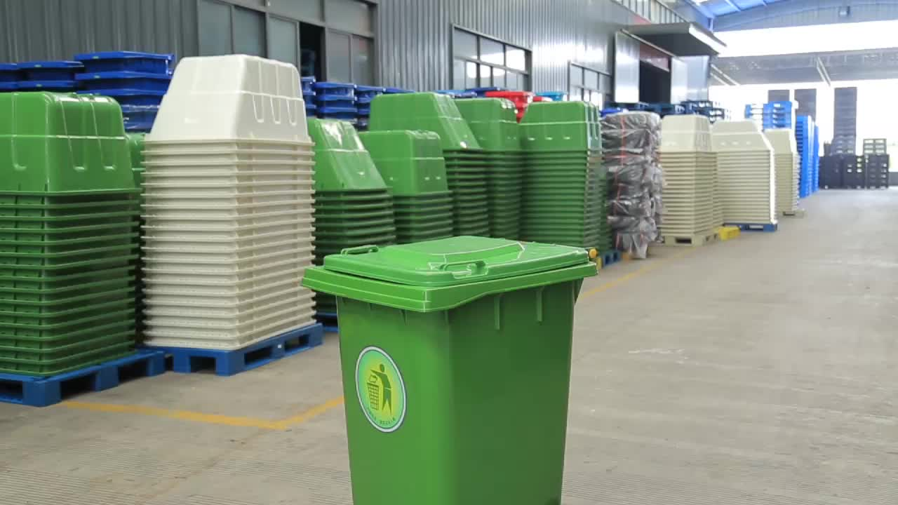 Modern newest design clear 240L plastic dustbin and making dustbin from waste material for sale