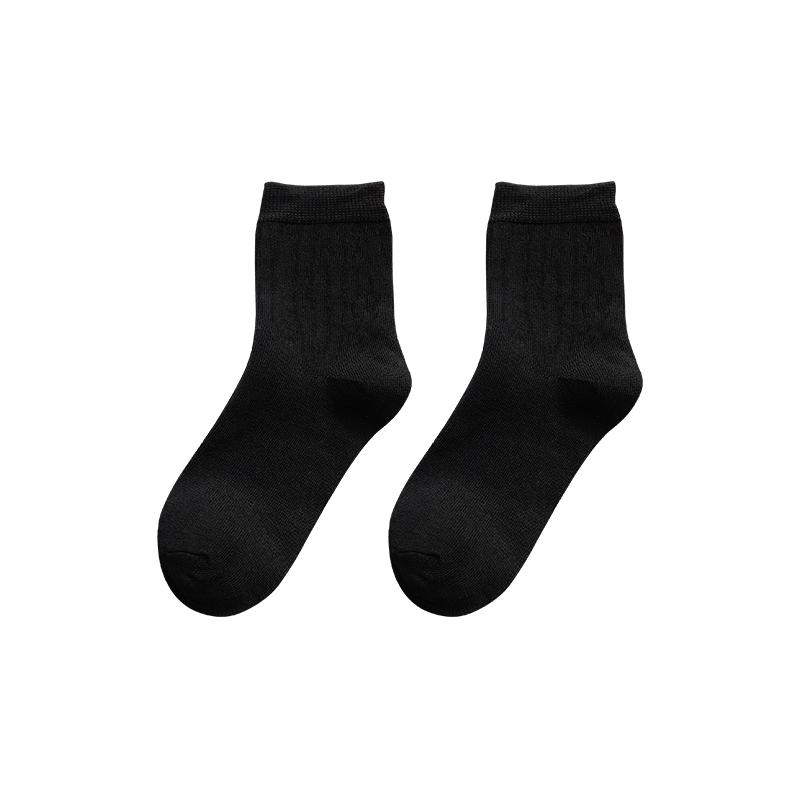 黑色袜子女中筒袜堆堆袜薄款春秋冬日系短袜jk长袜乐福配小皮鞋