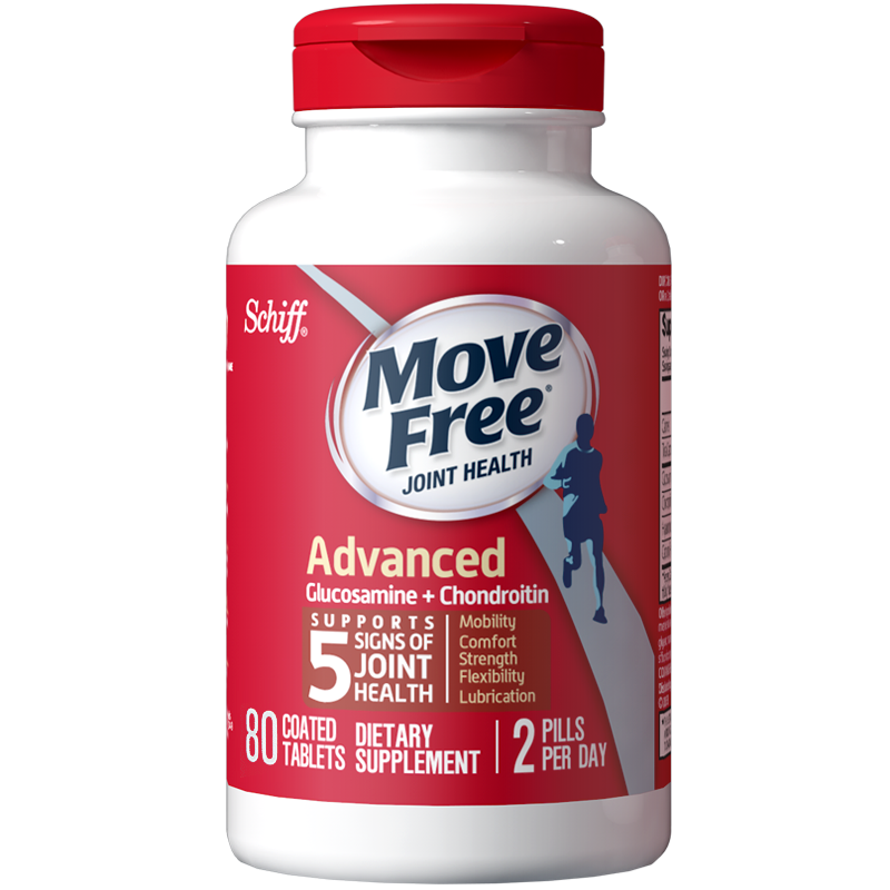 【movefree】氨糖维骨力红瓶80粒