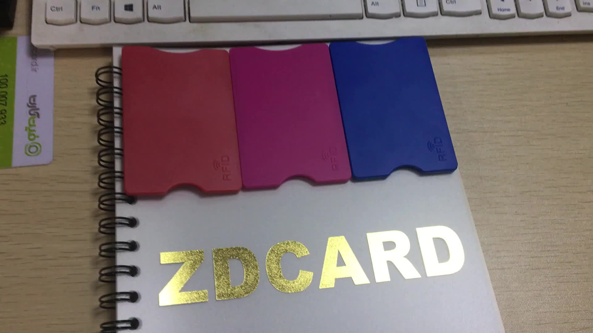 Plastic ABS RFID blocking credit card size holder with Aluminum foil