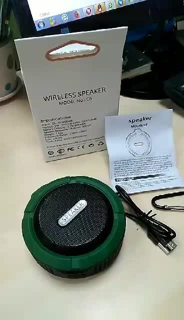 Easy Custom logo Wireless Ibastek Speaker for Travel Gift C6 Mini Portable Outdoor Wireless Speaker