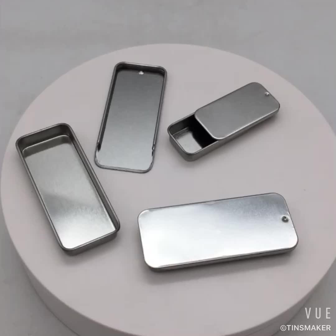 Foodgrade kleine size pocket slider tin sliding metal box