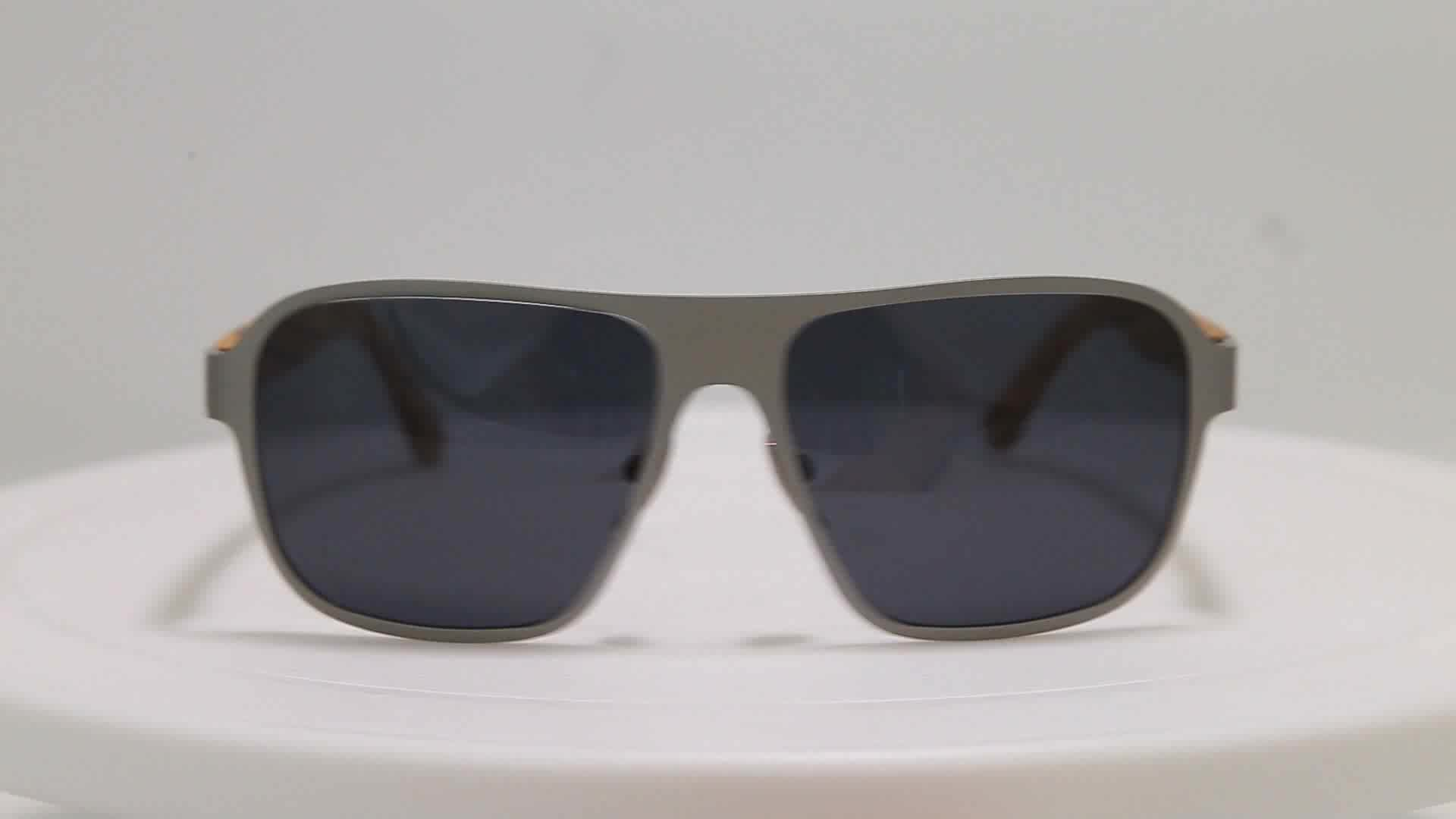 Wholesale Uv400 Fashionable Man Wood Sun Glasses Designer
