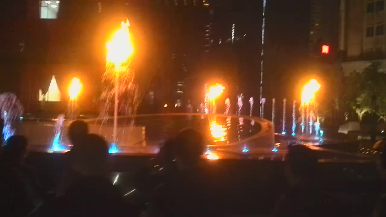New Music Water Feature with Fire Fountain