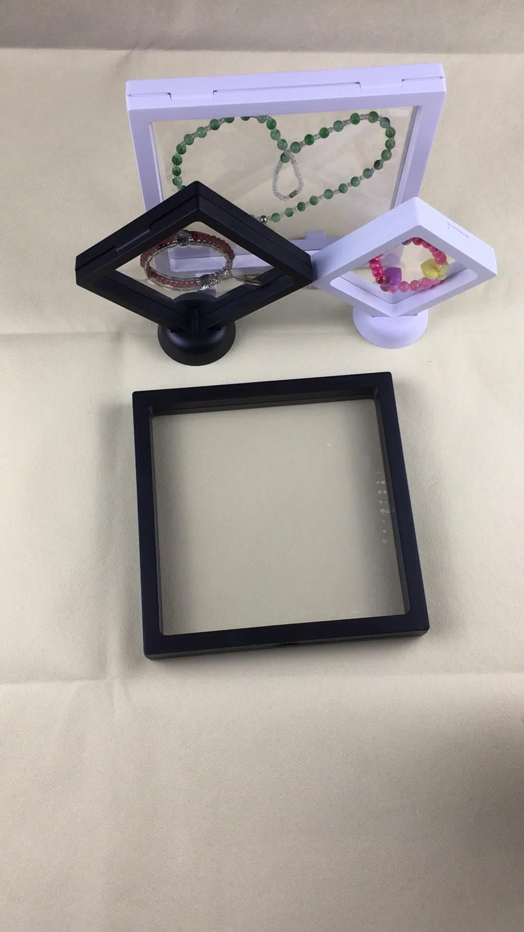 3D Suspension Schwimm Mit PE Transparent und Kunststoff Rahmen Schmuck Verpackung displays set boxen