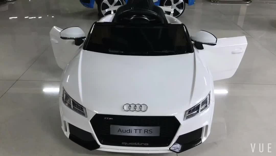 Licensed Audi Tt Rs Baby Ride On Toy Four Wheel Mini Powerful